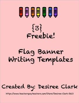 3 Freebie Flag Banner Writing Templates