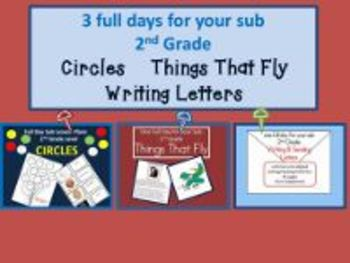 3 Full Days for 2nd Grade/Circles; Things That Fly; Writin