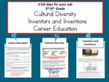 3 Full Days for 5th/6th Grade/Inventors, Cultural Diversity, Careers