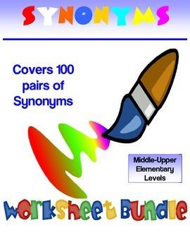 3 Full Synonyms Printable Bingo Game, Vocabulary Games