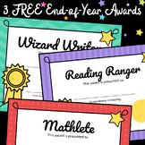 AWARDS - 3 FREE Fun Awards End of Year Certificates