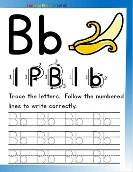 #3 Fun Fun Phonics (28 pages Aa, Bb, ab, ba) Complete Answer Key