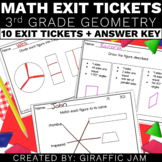 3rd Grade Math Exit Tickets for Every Geometry Standard