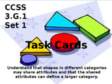 3.G.1 Geometry Task Cards Third Grade