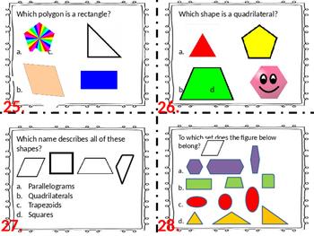 3.G.1 Geometry Task Cards Third Grade