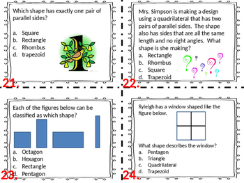 3.G.1  Set Two Geometry Task Cards Third Grade