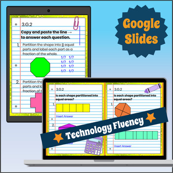 3.G.2 Interactive Notebook: Partitioning Shapes ⭐ Digital