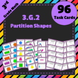 3.G.2 Task Cards ⭐ Partition Shapes into Parts with Equal Areas - Centers