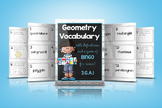 3.G.A.1 Geometry Vocabulary Cards and Bingo Game