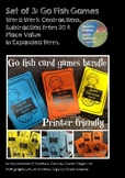 Go Fish 3 Game Pack - Contractions, Place Value and Subtraction