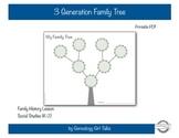 3 Generation Flower Family Tree