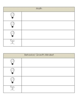 3 Glows and a Grow: Student Reflection Sheet & Goal Setting