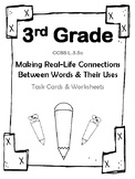 3 Gr Real-Life Connect Between Words &Uses (Aligned to American Reading Co IRLA)