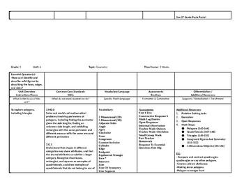 3 Grade Math Curriculum Map