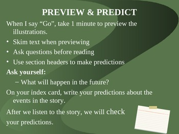 """3 Grade Treasures """"What's In Store for the Future?"""" Introductory PowerPoint"""