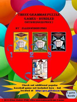 3 Grammar Puzzle Games - Bundled