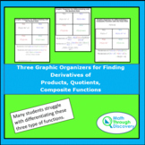 3 Graphic Organizers-Differentiating Product, Quotient, an