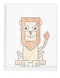 Coordinate Graphing Pictures:  a Lion, a Gorilla, and a Sn