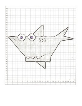 Coordinate Graphing Animal Pictures: A Mouse, a Dog, & a Shark  All quadrant one