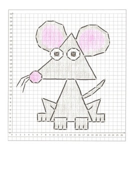 Coordinate Graphing Animal Pictures: A Mouse, a Dog, & a S