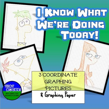 """Cartoon Coordinate Graphing Pictures """"I know what we're doing today""""  quadrant 1"""