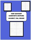 Coordinate Plane Graphing Pictures- Sailboat, Fish, & Anchor: 4 quadrants