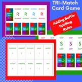 3 Great Spelling + suffix rules Tri Match card game-Orton