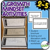 Growth Mindset Activities: Brochure, sorting cards, match up worksheet