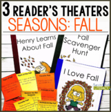 3 Growth Mindset Reader's Theaters: Fall Season
