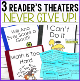 3 Growth Mindset Reader's Theaters: Never Give Up!