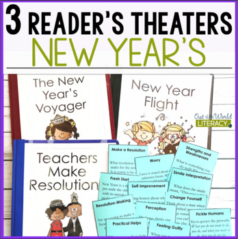 3 Growth Mindset Reader's Theaters: New Year's Resolutions