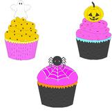 3 Halloween cupcakes