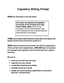 3 Historical Texas Citizens (Male) Expository Writing Prompts 3rd 4th 5th Set A