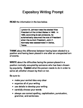 3 Historical Texas Citizens (Male) Expository Writing Prompts 3rd 4th 5th Set C