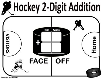 Hockey Math Games Are Engaging and Fun ~ For Addition and Subtraction
