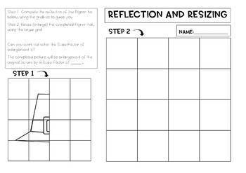 3 Holidays Reflection and Scale Factor Drawing, 100pgs, teacher notes, answers