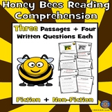 3 Honey Bees Paired Reading Comprehension: Spring Reading Fun