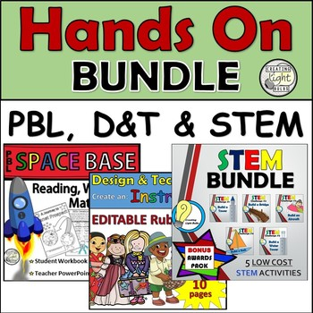 3IN1! STEM PBL & D&T Hands on Activities with Problem Solving & Math
