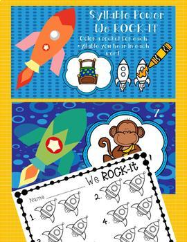 3 INTERACTIVE DIGITAL TASK CARD CENTERS - Counting Syllables-Space Theme