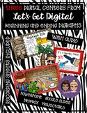 3 INTERACTIVE DIGITAL TASK CARD CENTERS - Digraphs sh, th and ch