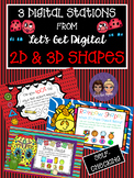 3 INTERACTIVE DIGITAL TASK CARDS-2D and 3D Shapes Which Sh