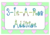 3-In-A-Row Addition Dice Game - SMARTBoard & Paper Version