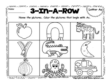 3-In-A-Row Alphabet Knowledge