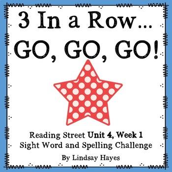 3 In a Row...GO, GO, GO! Reading Street 4.1