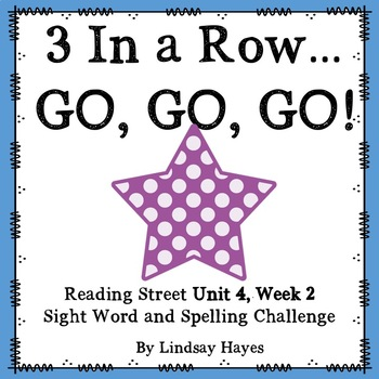 3 In a Row...GO, GO, GO! Reading Street 4.2