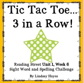 3 In a Row...GO, GO, GO! Reading Street Unit 1, Week 6