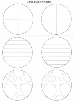 3 Inch Diameter Circles for Picture Fractions