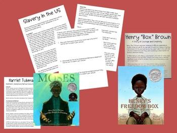"3 Informational Passages - Slavery, Harriet Tubman, Henry ""Box"" Brown Civil War"