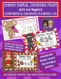 3 Interactive Digital Task Card Centers - Comparing & Ordering Numbers 1-10