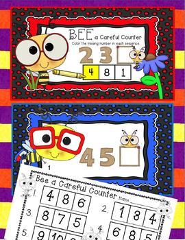 3 Interactive Digital Task Card Centers - Number Order/Missing Number 1-10